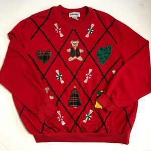 Alfred Dunner Vintage Holiday Christmas Sweatshirt